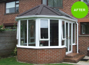 After warm roof conservatory has been fitted