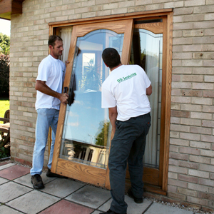 Fitting a sliding patio door