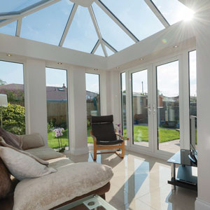 Loggia by Ultraframe conservatory roof